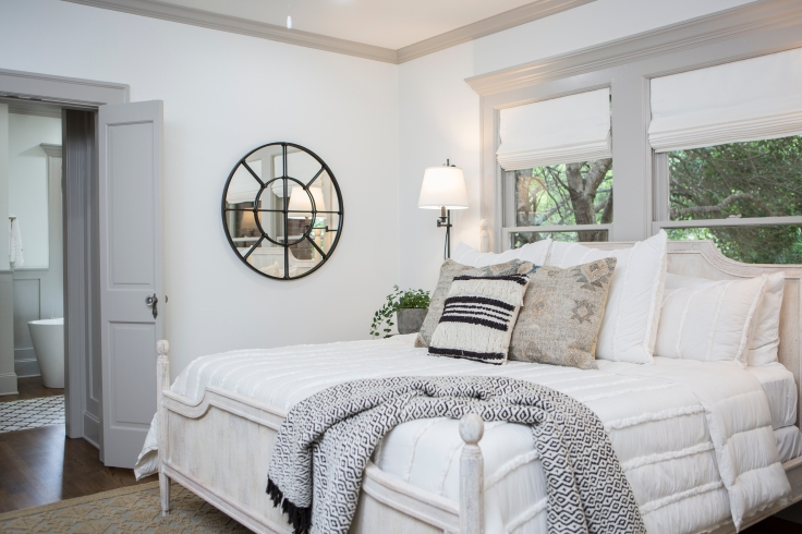 As seen on Fixer Upper, the Scrivano's remodeled master bedroom. (After #13)