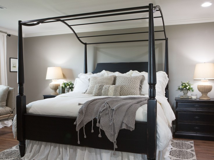 As seen on FIxer Upper, the remodeled master bedroom. (After)